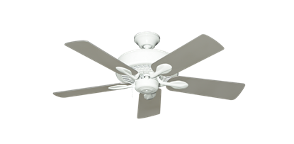 """Picture of Meridian Pure White with 44"""" Satin Steel (painted) Blades"""