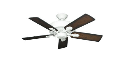 """Picture of Meridian Pure White with 44"""" Distressed Hickory Blades"""