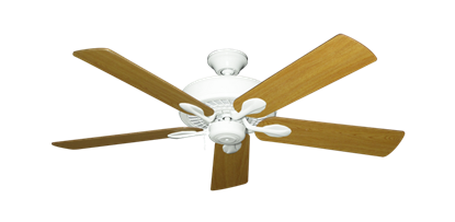 """Picture of Meridian Pure White with 52"""" Honey Oak Blades"""