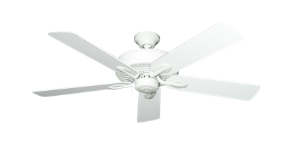 """Picture of Meridian Pure White with 52"""" Textured White Blades"""