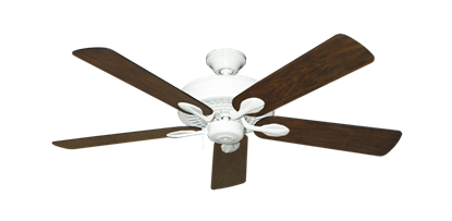 """Picture of Meridian Pure White with 52"""" Distressed Walnut Blades"""