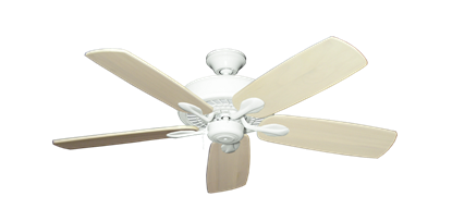 """Picture of Meridian Pure White with 52"""" Series 710 Arbor Whitewash Blades"""