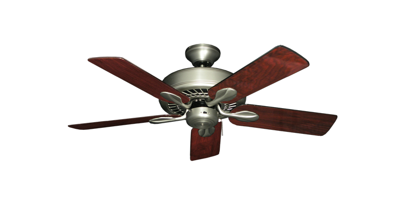 """Picture of Meridian Satin Steel with 44"""" Cherrywood Gloss Blades"""