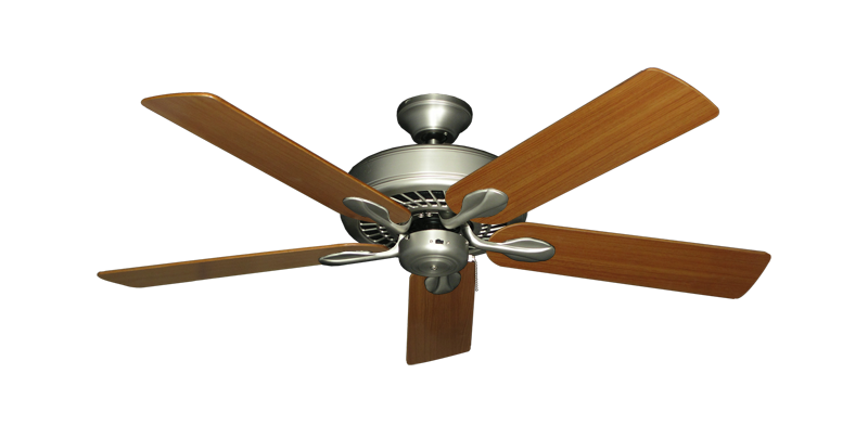 """Picture of Meridian Satin Steel with 52"""" Teak Blades"""