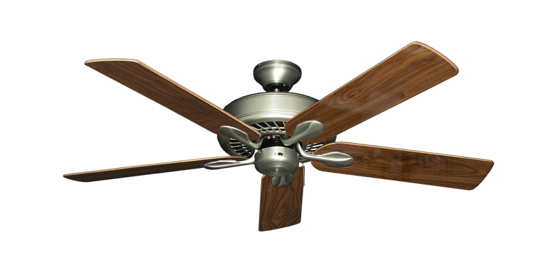 """Picture of Meridian Satin Steel with 52"""" Walnut Gloss Blades"""