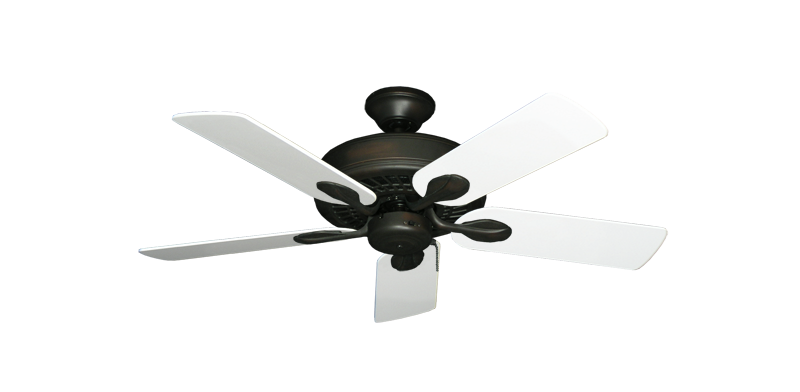 "Picture of Meridian Oil Rubbed Bronze with 44"" Pure White Blades"