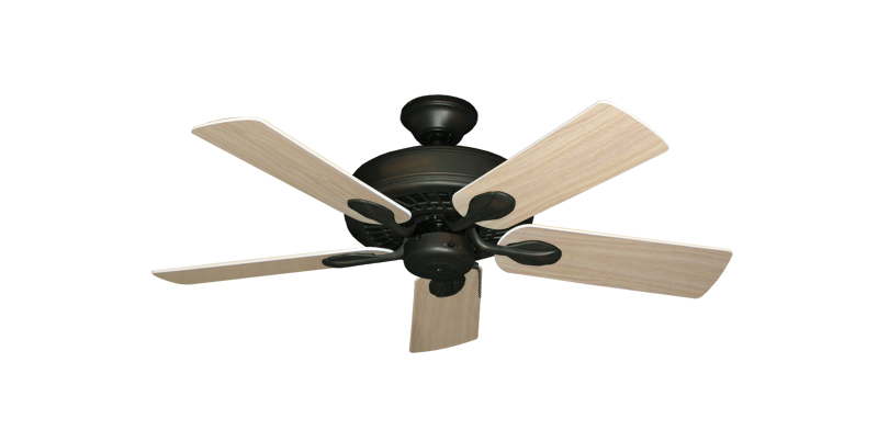 """Picture of Meridian Oil Rubbed Bronze with 44"""" Bleached Oak Blades"""