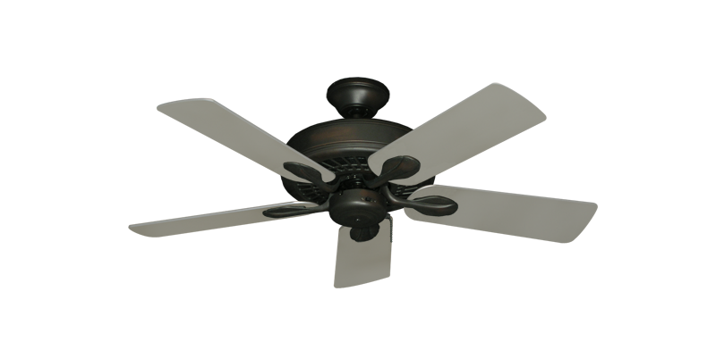 """Picture of Meridian Oil Rubbed Bronze with 44"""" Satin Steel (painted) Blades"""