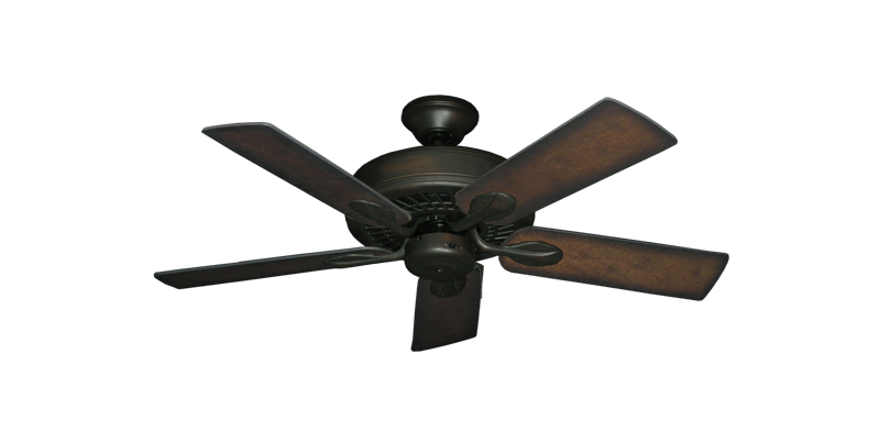 "Picture of Meridian Oil Rubbed Bronze with 44"" Distressed Hickory Blades"