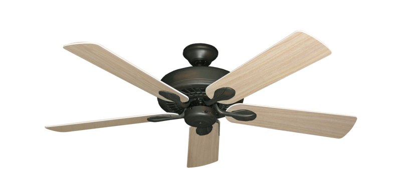 "Picture of Meridian Oil Rubbed Bronze with 52"" Bleached Oak Blades"