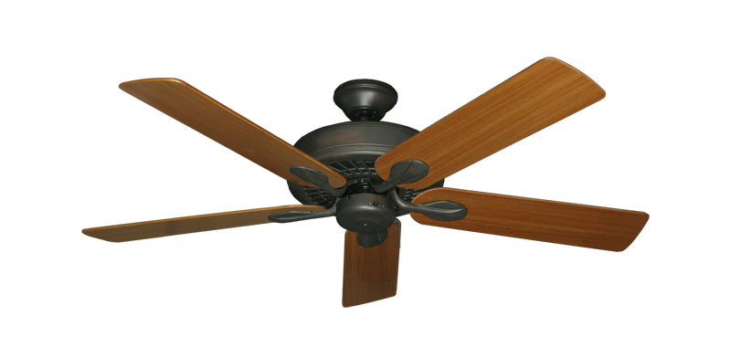 """Picture of Meridian Oil Rubbed Bronze with 52"""" Teak Blades"""