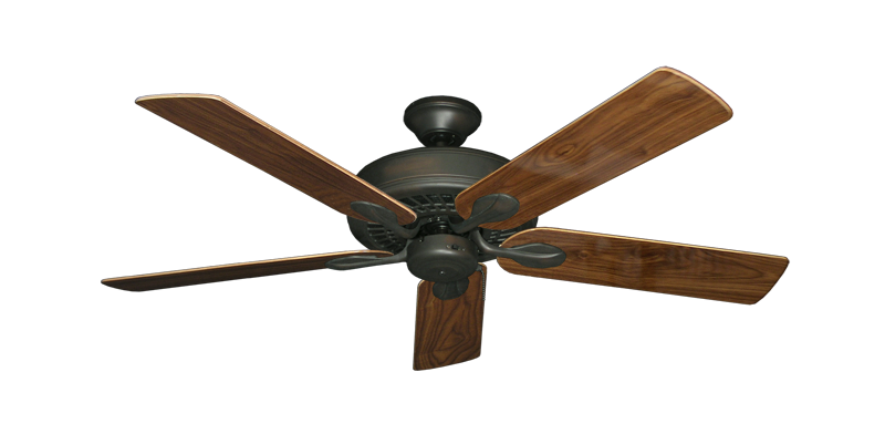 """Picture of Meridian Oil Rubbed Bronze with 52"""" Walnut Gloss Blades"""