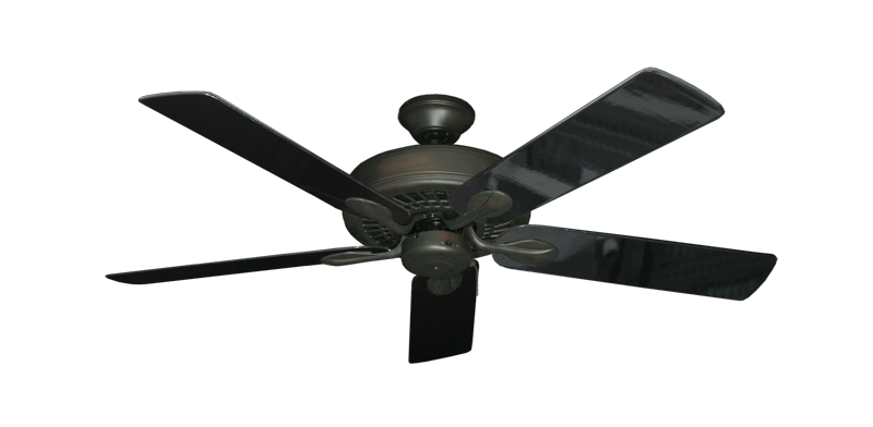 "Picture of Meridian Oil Rubbed Bronze with 52"" Black Gloss Blades"
