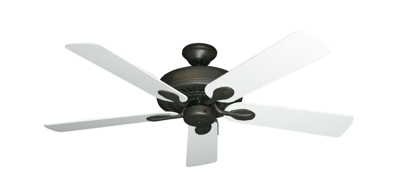 "Picture of Meridian Oil Rubbed Bronze with 52"" Textured White Blades"
