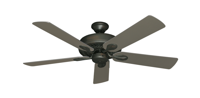 """Picture of Meridian Oil Rubbed Bronze with 52"""" Satin Steel (painted) Blades"""