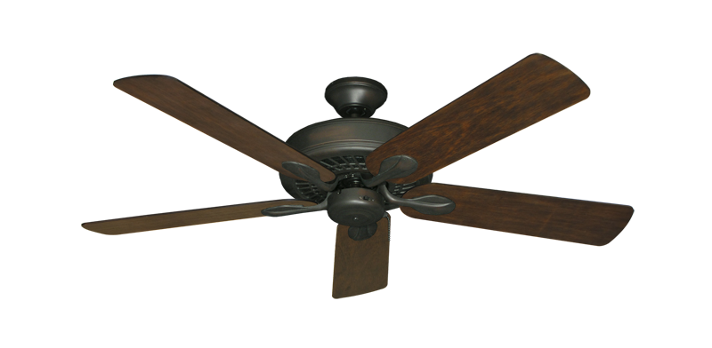 "Picture of Meridian Oil Rubbed Bronze with 52"" Distressed Walnut Blades"