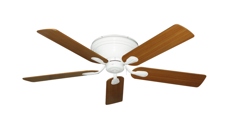 """Picture of Stratus Pure White with 52"""" Teak Blades"""