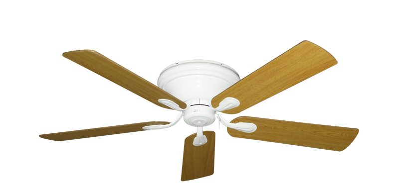 """Picture of Stratus Pure White with 52"""" Honey Oak Blades"""