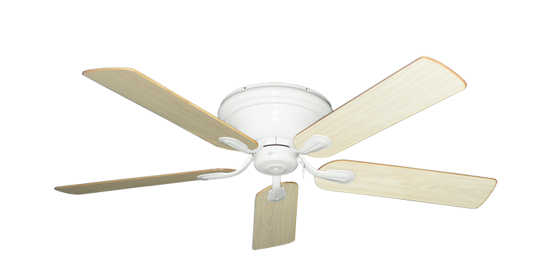 """Picture of Stratus Pure White with 52"""" Unfinished Oak Blades"""