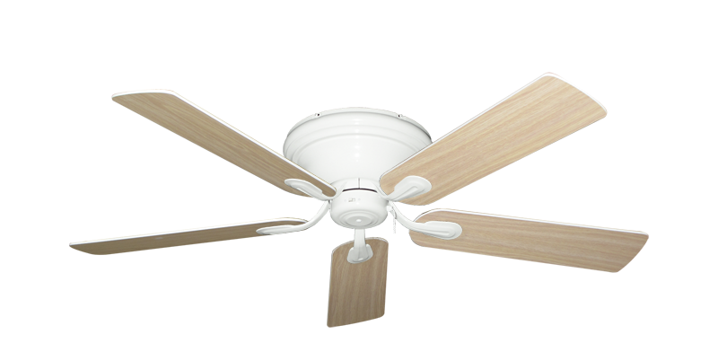 """Picture of Stratus Pure White with 52"""" Bleached Oak Gloss Blades"""