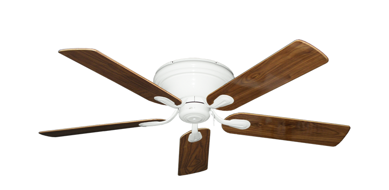 "Picture of Stratus Pure White with 52"" Walnut Gloss Blades"