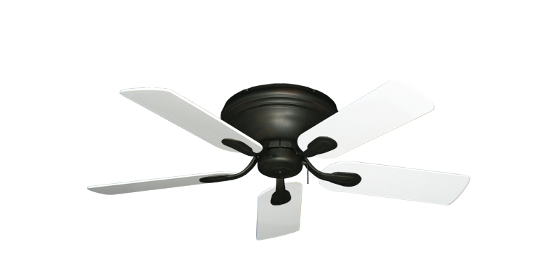 """Picture of Stratus Oil Rubbed Bronze with 44"""" Pure White Blades"""