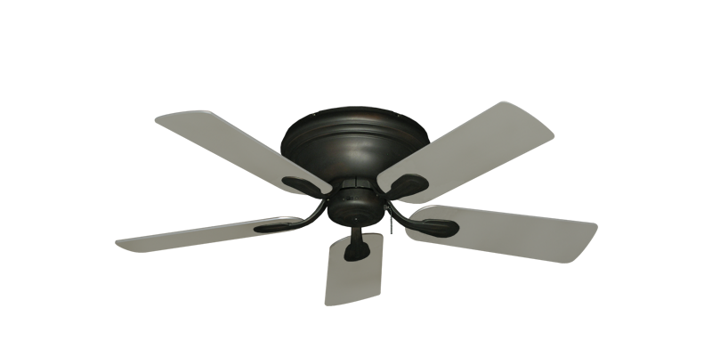 """Picture of Stratus Oil Rubbed Bronze with 44"""" Satin Steel (painted) Blades"""