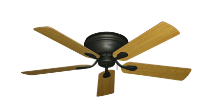 "Picture of Stratus Oil Rubbed Bronze with 52"" Honey Oak Blades"
