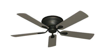 "Picture of Stratus Oil Rubbed Bronze with 52"" Satin Steel (painted) Blades"