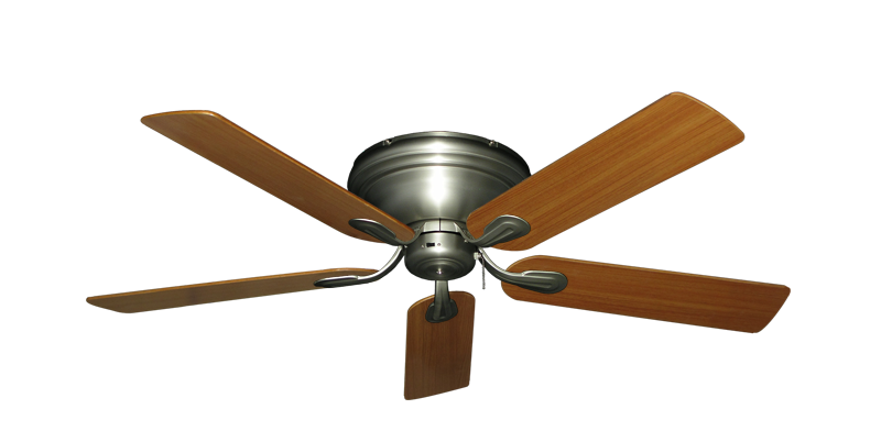 "Picture of Stratus Satin Steel with 52"" Teak Blades"