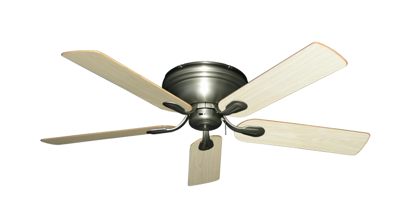 """Picture of Stratus Satin Steel with 52"""" Unfinished Oak Blades"""