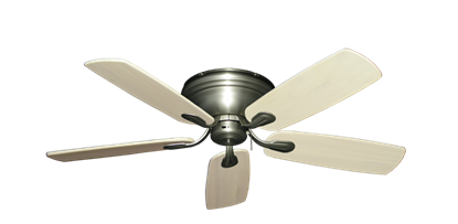 """Picture of Stratus Satin Steel with 52"""" Series 710 Arbor Whitewash Blades"""