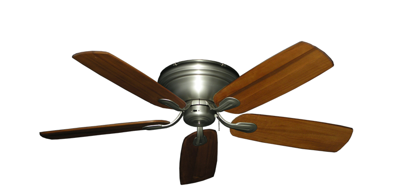 "Picture of Stratus Satin Steel with 52"" Series 710 Arbor Oak Blades"