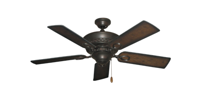 "Picture of Infinity Oil Rubbed Bronze with 44"" Distressed Hickory Blades"