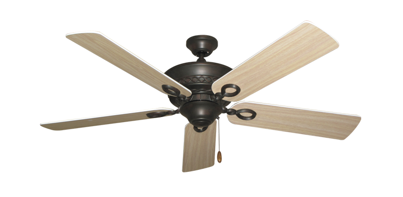 "Picture of Infinity Oil Rubbed Bronze with 52"" Bleached Oak Blades"