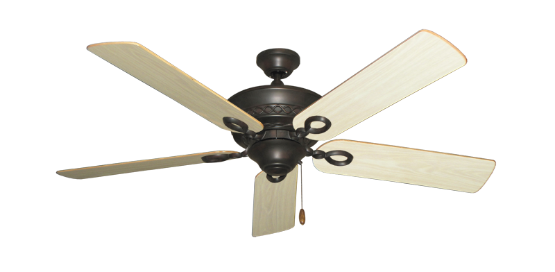 "Picture of Infinity Oil Rubbed Bronze with 52"" Bleached Oak Gloss Blades"