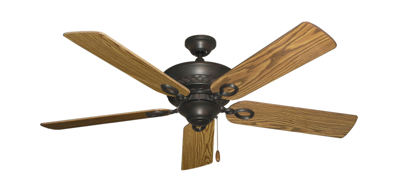 """Picture of Infinity Oil Rubbed Bronze with 52"""" Oak Gloss Blades"""
