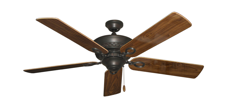 """Picture of Infinity Oil Rubbed Bronze with 52"""" Walnut Gloss Blades"""