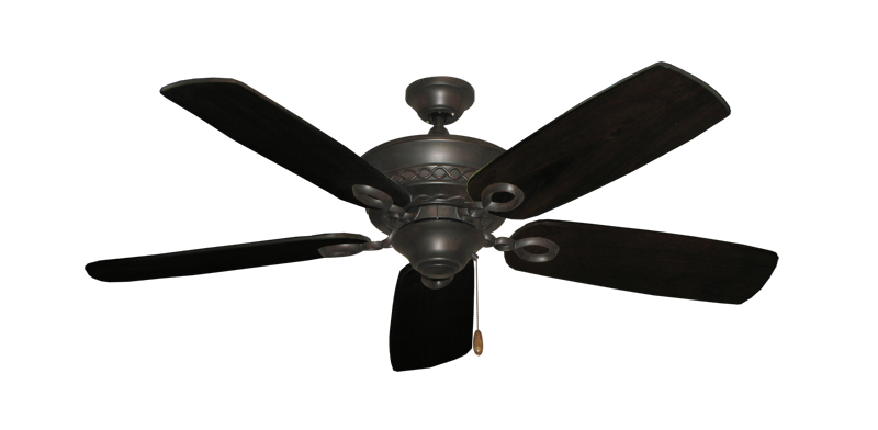 """Picture of Infinity Oil Rubbed Bronze with 52"""" Series 710 Arbor Dark Walnut Blades"""