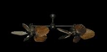 "Twin Star III Oil Rubbed Bronze with 35"" Series 600 Arbor Dark Walnut Blades"