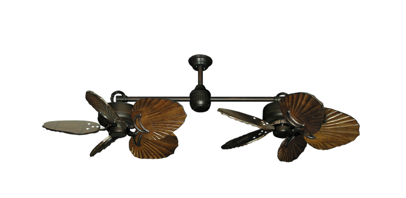 "Picture of Twin Star III Oil Rubbed Bronze with 35"" Series 600 Arbor Dark Walnut Blades"
