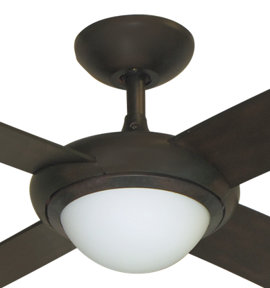 """52"""" Luna Indoor Outdoor Ceiling Fan and Light in Oil Rubbed Bronze with Remote Control"""