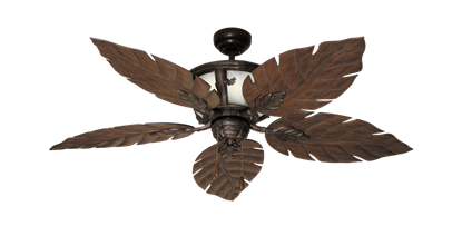 "Picture of 52"" Venetian Lighted Ceiling Fan in Oil Rubbed Bronze"