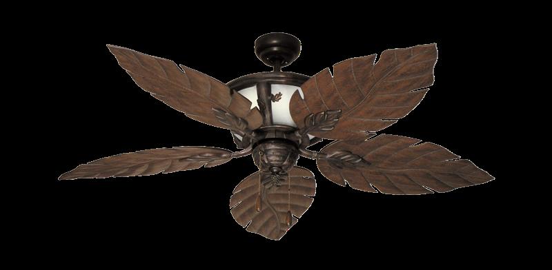 """52"""" Venetian Lighted Ceiling Fan in Oil Rubbed Bronze"""