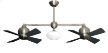 "Picture of 24"" Metropolitan Dual Ceiling Fan with Light in Satin Steel"