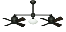 "24"" Metropolitan Dual Ceiling Fan with Light in Oil Rubbed Bronze"