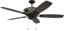 Excalibur 60 in. Rubbed Bronze Uplight Ceiling Fan
