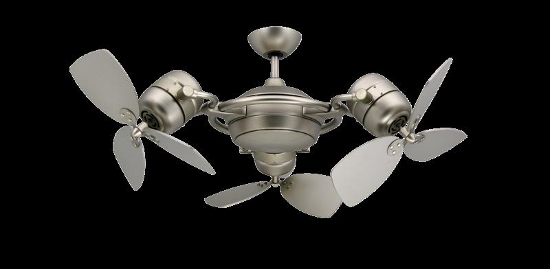 Satin Steel Triple Ceiling Fan
