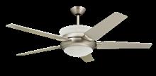 5-blade satin steel uplight ceiling fan