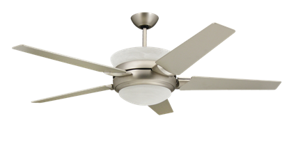 5-blade satin steel uplight ceiling fan